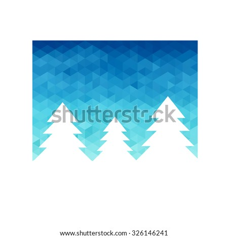 Christmas greeting card. The Magic Christmas Tree. Christmas background - stock vector