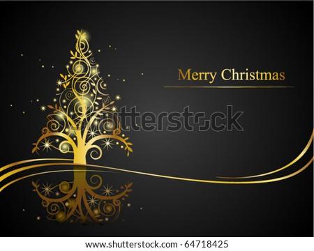 Christmas greeting card, vector EPS8 - stock vector