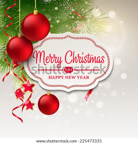 Christmas greeting card. Vector illustration - stock vector