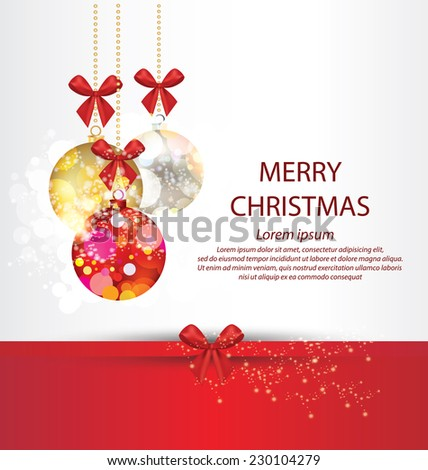 Christmas Greeting Card. Vector illustration. - stock vector