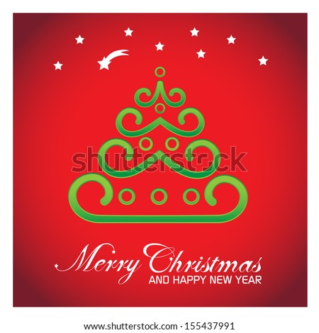 Christmas Greeting Card - Vector Illustration, Graphic Design Editable For Your Design.