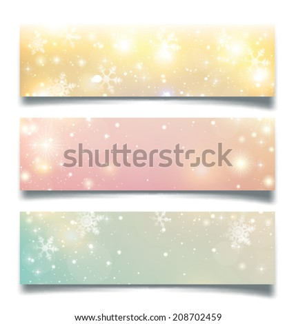 Christmas greeting card - vector illustration. Sparkle background