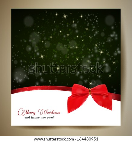 christmas greeting card with a green background