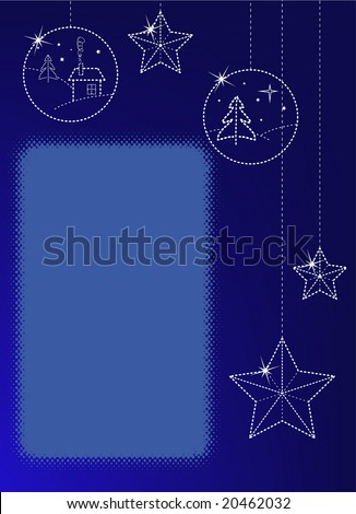 Christmas greeting card with copyspace