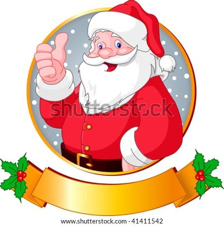 Christmas greeting card with Santa Claus - stock vector
