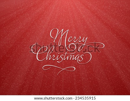 Christmas greeting card with snowflakes. Vector illustration of red Christmas background with snowflakes.  - stock vector