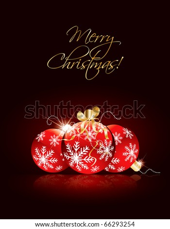 Christmas greeting in editable vector format - stock vector