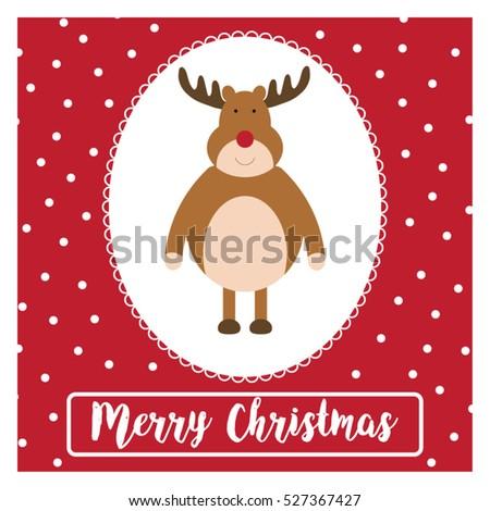 Christmas greetings card funny holiday illustration stock vector hd christmas greetings card funny holiday illustration reindeer postcard with merry christmas typography m4hsunfo