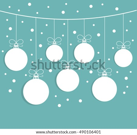 Christmas hanging balls background illustration
