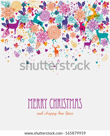 Christmas holiday transparent colors elements background. EPS10 vector file organized in layers for easy editing. - stock vector