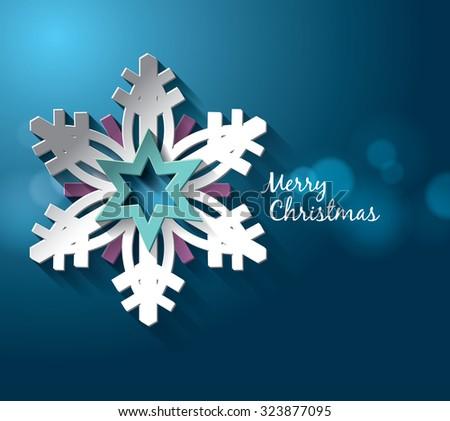 Christmas 2016 holidays vector design - stock vector