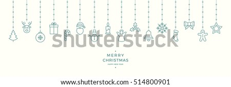 christmas icon elements hanging background