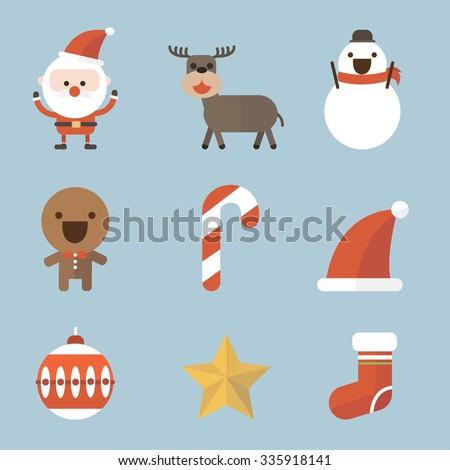 Christmas icon. flat design - stock vector