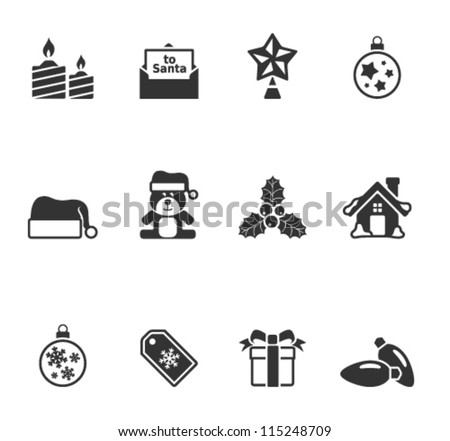 Christmas icon in single color - stock vector