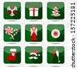 Christmas icon set. - stock vector