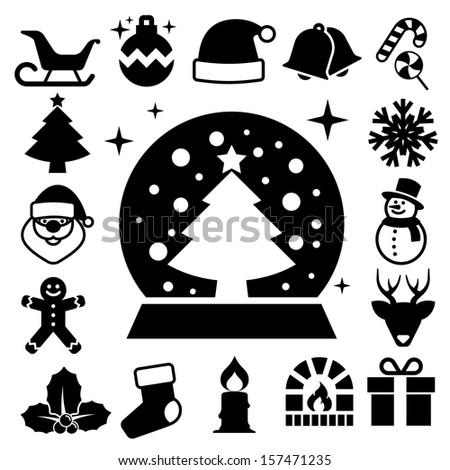 Christmas icon set.Illustration EPS10 - stock vector