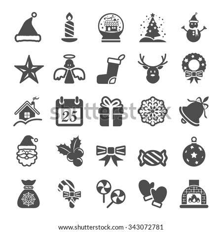 christmas icon set, vector eps10.