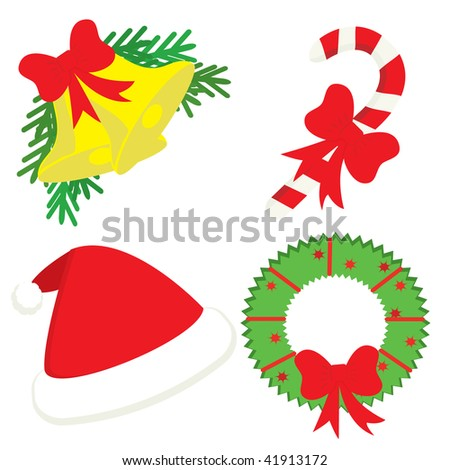 Christmas icon set. Vector illustration.