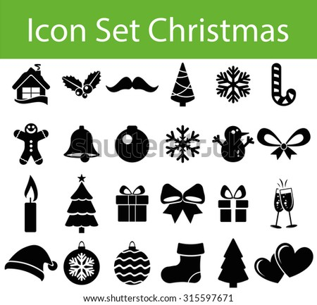Christmas Icon Set with 24 icons