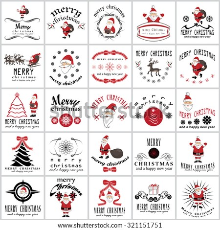 Christmas Icons And Elements Set - Isolated On Background - Vector Illustration, Graphic Design Editable For Your Design - stock vector