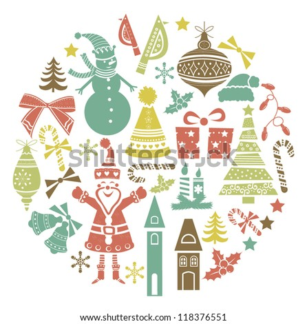 Christmas Icons collection. - stock vector