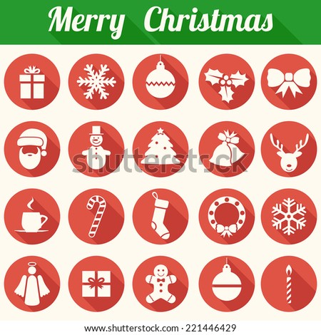 Christmas Icons Set - Vector EPS10 - stock vector