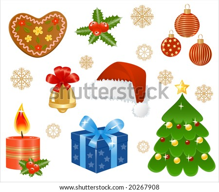 Christmas icons. Vector-Illustration