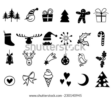 Christmas icons- vector illustrator