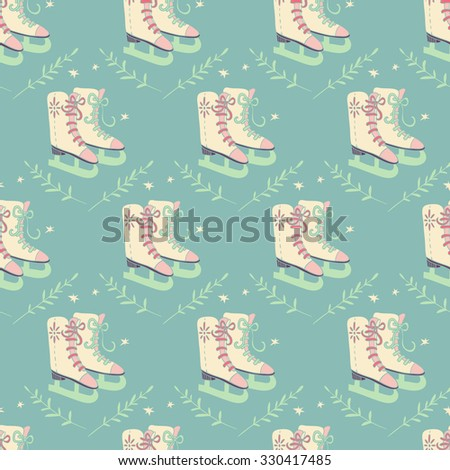 Christmas illustration. seamless pattern