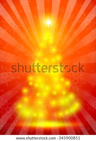 Christmas illustration the gift background
