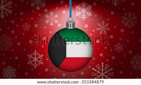 christmas in kuwait - stock vector