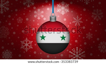 christmas in syria - stock vector