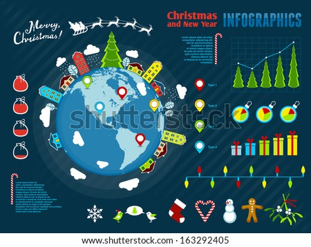 Christmas Infographics. Vector illustration, eps10. - stock vector