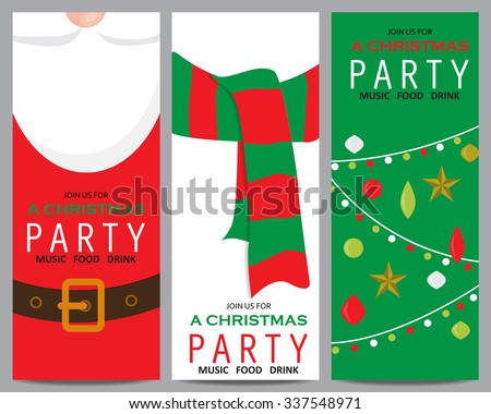 christmas invitation template card. can be use for business shopping card, customer sale and promotion, layout, banner, web design. vector illustration - stock vector
