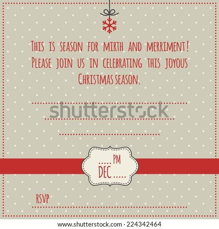 Christmas Invitation Template Illustration Christmas Decoration - Christmas save the date template