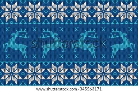 christmas jumper pattern design - stock vector
