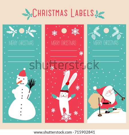 Christmas Labels Template Stock Photo (Photo, Vector, Illustration ...