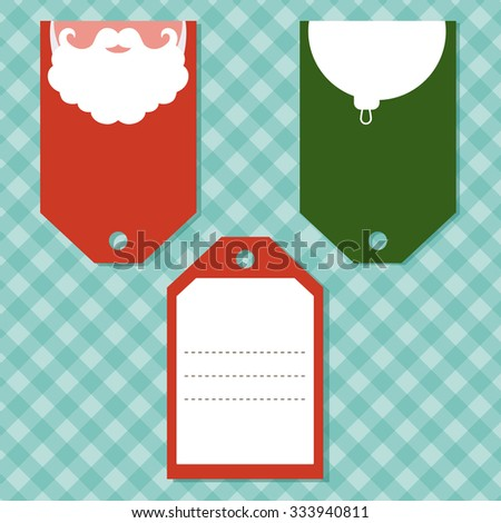 Christmas Labels with Copyspace Set. Vector Illustration - stock vector