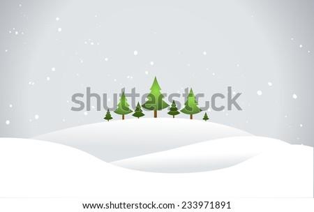 Christmas Landscape - stock vector