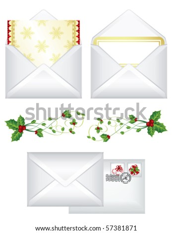 Christmas letters, vector - stock vector