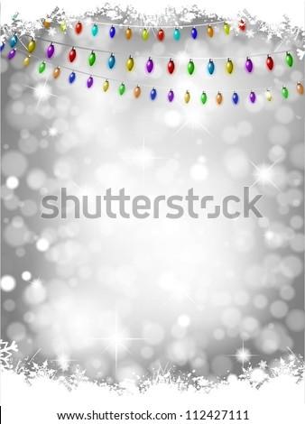 Christmas light background - stock vector
