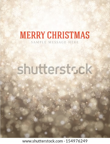 Christmas light background with snowflakes. Vector illustration Eps 10.  - stock vector