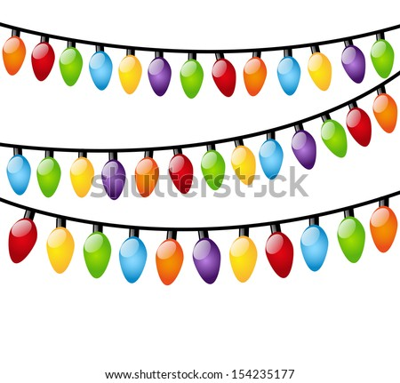 christmas light bulbs on white stock vector hd royalty free rh shutterstock com free vector christmas light bulbs Christmas Lights Border Clip Art