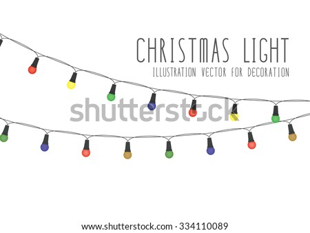 Christmas Light Illustration Vector For Decoration. - stock vector