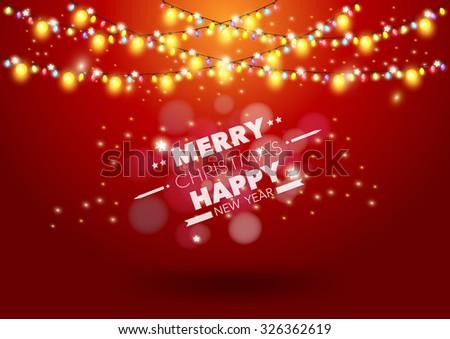Christmas light vector background - stock vector
