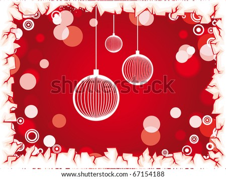 christmas lights background - stock vector