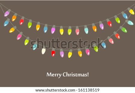 Christmas lights background. Vector illustration - stock vector
