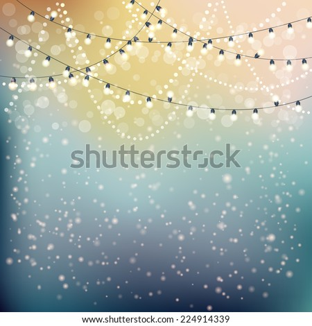 Christmas Lights Background. Vector illustration, eps10  - stock vector