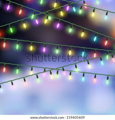 Christmas lights. Vector EPS10 - stock vector