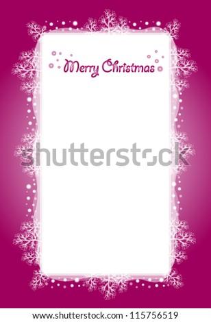 Christmas maroon frame - stock vector
